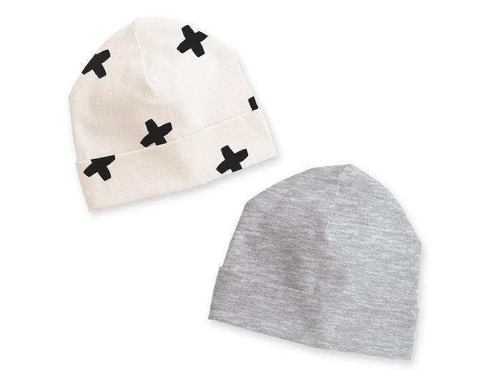 Newborn Boy Hat, Newborn Baby Hat, Newborn Coming Home Hat, Baby Hats for Boys, Baby Boy Beanies, Heather Gray, Minimalist, Tesababe
