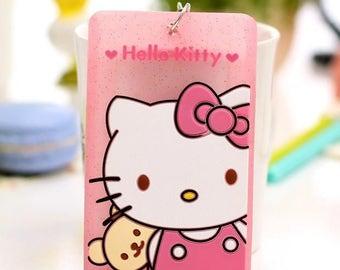 Kawaii Cartoon Hello Kitty Lanyard Silicone Badge / Bank / Bus/ Credit Card / ID Holder
