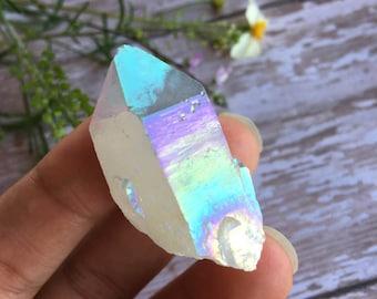 Aura Quartz-Opal Aura Quartz Point- Quartz