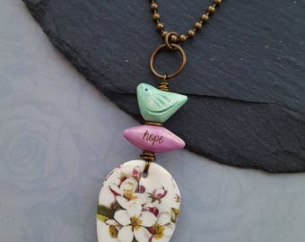 Floral Birdy Necklace