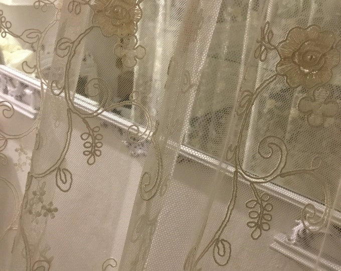 Fine lace curtain
