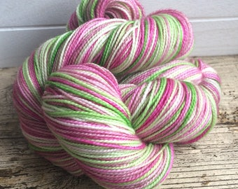 Hand Dyed, Superwash, Merino, Yarn, Wool, Sock,  High Twist, ilovepinkgeraniums