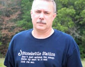 Stonekettle Station Licensed Tee Shirt, Stonekettle Minion Shirt, Shop Kat Shirt, Don't just embrace the crazy shirt