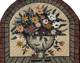 The Colorful Daisies Mosaic Basket