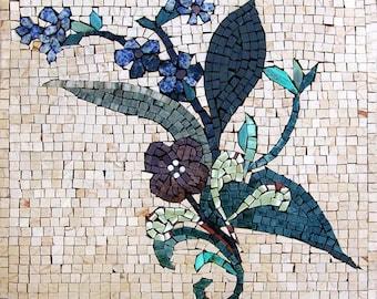 Decorative Flower Mosaic- Violet