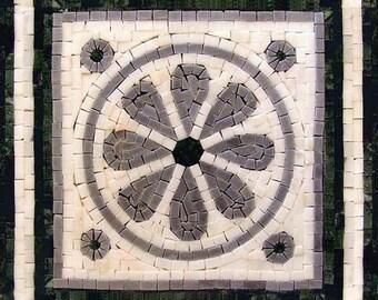 Natural Stone Mosaic - Lotus Jewel