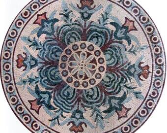 Circular Floral Mosaic - Serena