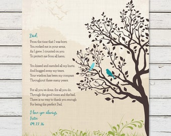 FATHER of the BRIDE GIFT, Gift for Dad from Daughter, Dads birthday, Dad Thank You, Poem for Dad, Dad Gifts, Personalized Print for Dad
