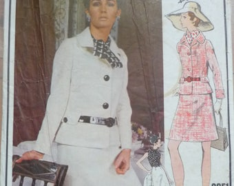 original sewing pattern. Vogue Paris original Pierre Balmain. Jacket,skirt and blouse. bust 36""