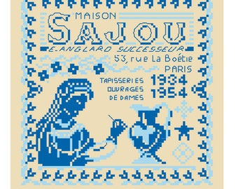 The History of Maison Sajou from 1934 to 1954 in cross stitch