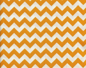 Chevron Zig Zag Gold Fabric