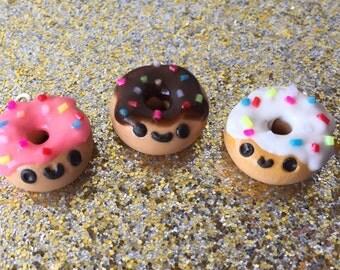 Donut Charm Polymer Clay Doughnuts Donut Jewelry