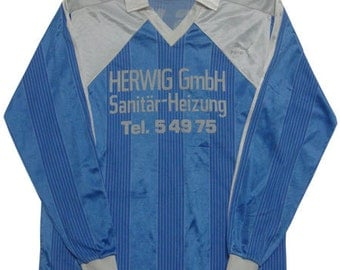 80's vintage puma football shirts made in west germany