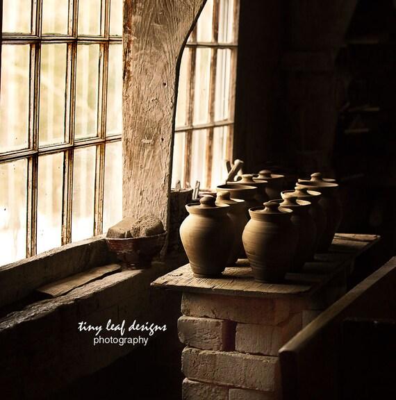 Pottery Studio Photograph 8x8 10x10 12x12