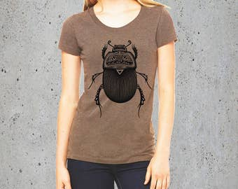 Womens TRIBAL Insect BEETLE Shirt)Bugs-Best Selling Items-Womens Clothing,Women Graphic Tee-Girlfriend Gift-Birthday Gifts,instagram