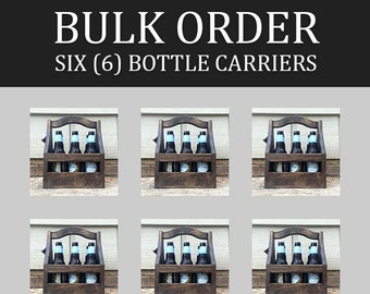 6-pack of 6-packs - Bulk Customizable Beer Caddies / Bottle Carriers / Totes (lot of 6)
