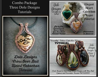 Dole Designs Combo Tutorial Package for Wire Weaving Wrapping