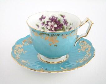 Aynsley England Bone China Tea Cup and Saucer Set, Vintage