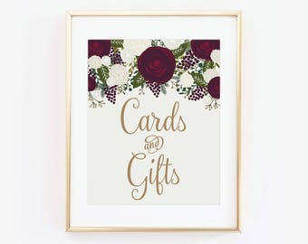 Cards & Gifts Sign, Wedding Sign, Cards and Gifts Wedding Sign, Cards and Gifts Table Sign, Wedding Sign, Reception Sign #CL158