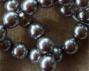 PRECIOSA Pearl Beads, 10mm, Silver, sold in units of 50 pearls