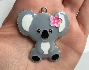 P55 Koala Bear Rhinestone Pendant