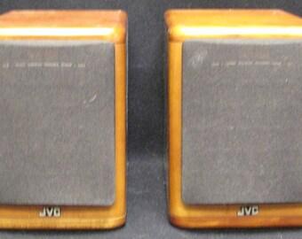 Set of FOUR JVC SP-UX7000 Cherry Wood Bookshelf Speakers