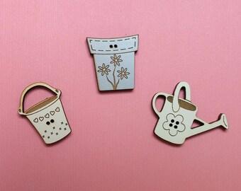 Garden Buttons. Decorative Buttons