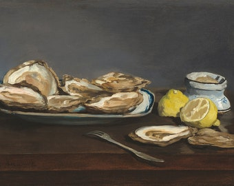 Edouard Manet: Oysters. Fine Art Print/Poster. (003962)
