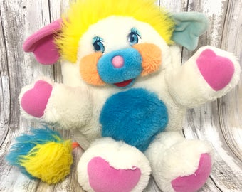 FREE SHIPPING! Vintage 80s Puffball Popples Popple Plush Stuffed Animal Toy (#19)