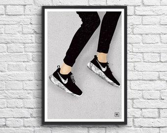 Art-Poster 50 x 70 cm -  Fashion model Nike