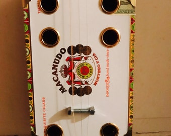 Cigar Box Guitar 3 String Electric