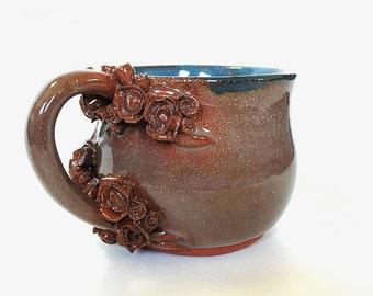 Stoneware Flower Mug (8 fl oz)
