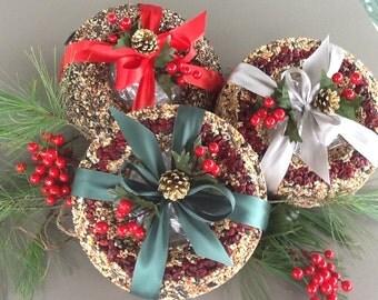 Bird SeedWreath Christmas Holiday Gift Seed Wreath Bird Food Bird Treat Handmade Wild Bird Food Nature Lover Gift Seed Wreath All Natural