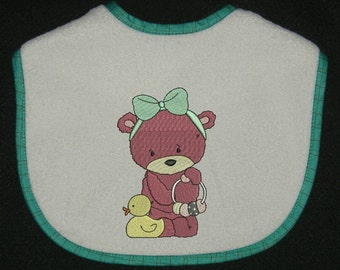 Beautiful little bear machine embroidery design 2 size 4x4-5x7 Instant Digital Download