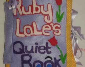 Quiet Book - 10 Page Activity Book - Handmade To Order