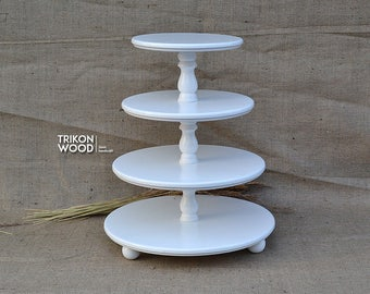 Multi Tiered serving tray. Demountable Cake Stand with 4 tier. Wedding Cake Stand. Birthday Cake Stand. Round Cake Stand.