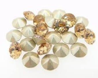24 Swarovski crystal rhinestones 1088 pointed back SS24 light colorado topaz 246