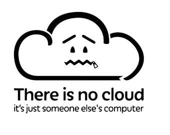 There is no cloud vinyl decal