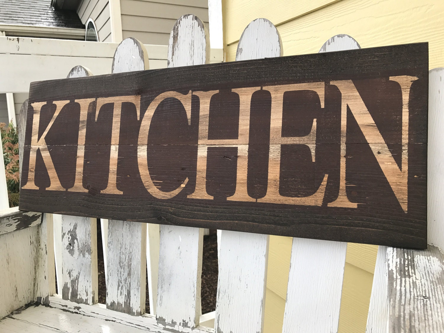 Distressed Kitchen Sign Red Kitchen Sign Brown Kitchen