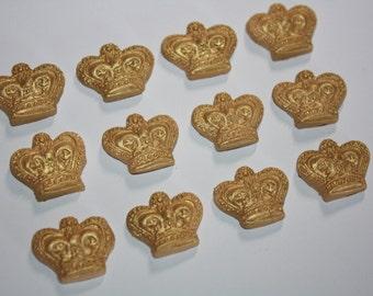 Gold Fondant Crown Fondant Crown Edible Fondant Crown Fondant Princess Crown
