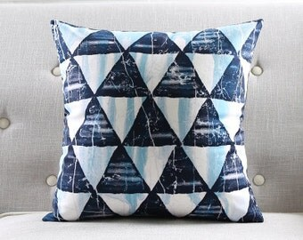 Decorative pillow cover/Geometric cushion cover/ black and teal pillow throw/pillow sham