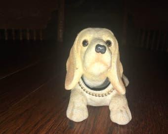 Vintage Nodder An Old Bassett Hound Dog  Made In Japan