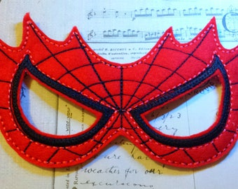 Embroidered Spiderman Mask- choose your color and customize size superhero mask Halloween birthday party dress up