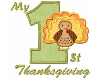 1st Thanksgiving...Instant Download...Applique Machine Embroidery DESIGN NO. 729