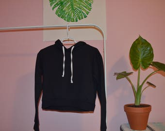 Tilly's Full Tilt Black Cropped Hoodie S