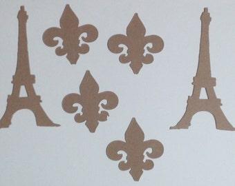 Eiffel Tower and Fleur de Lis Die Cuts - Tim Holtz
