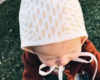 baby cotton bonnet // SIMPLE WHEAT