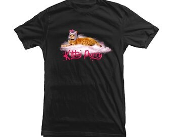 Kitty Purry T-shirt for Katy Perry Fans and Cat Lovers - great gift for any girl MUF-12071