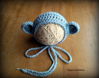 baby bear hat,baby bear bonnet,photo bear hat,photo bear bonnet,boy photo prop,girl photo prop,boy bear hat,girl bear hat,crochet bear hat