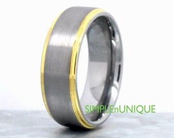 Tungsten Engagement Ring, Custom Tungsten Rings For Men, Tungsten Wedding Band, Luxury Tungsten Ring, Mens Wedding Band Tungsten